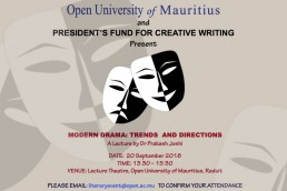 Presidents Fund for Creative Writing_Mauritius_Drama